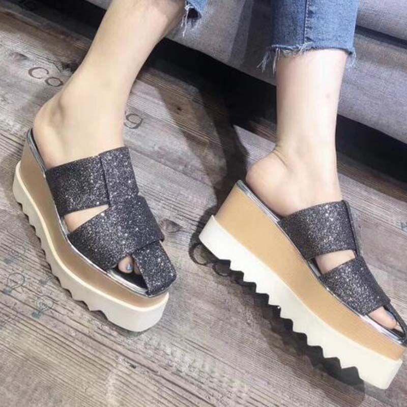 Flip flop women casual dad High heels shoes triple black white grey Vintage mens designer Pentagram sneakers trainers women slides Sanda f6