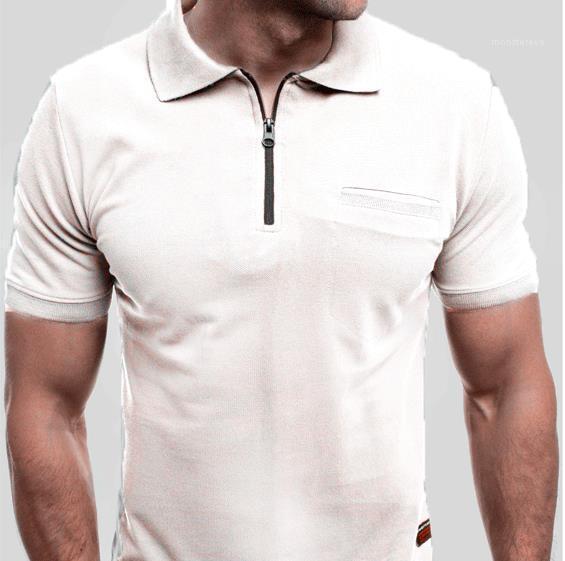 Court T-shirts manches Vêtements d'été pied de col Mens rapide Designer Dry classique Casual Polos été solide