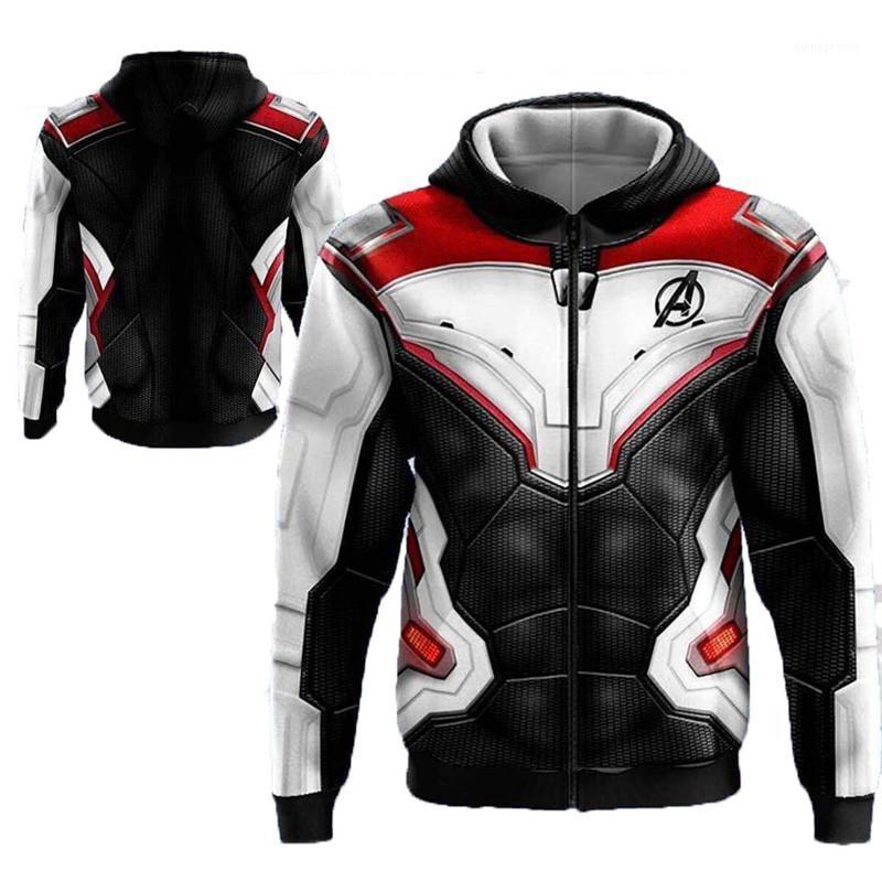 Мстители Mens конструктора Толстовка Crew Neck с длинным рукавом мода Quantum Warfare американского стиль Homme Одежда Marvel