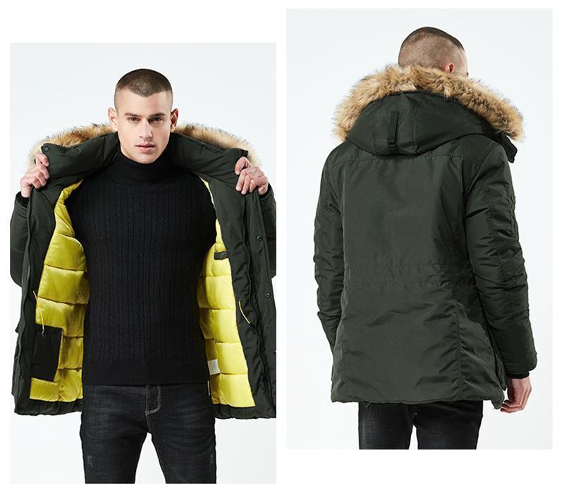 Zipper inverno cappotti con tasche Homme rivestimento di modo tenere in caldo cotone uomo Giacca imbottita Cappello staccabile