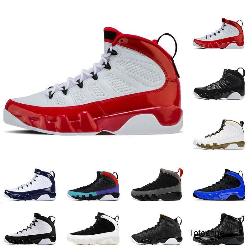 I nuovi Mens scarpe da basket 9s Palestra Sogno rosso, farlo UNC LA Bred Space Jam antracite formatori 9 sport dimensione della scarpa da tennis 7-13