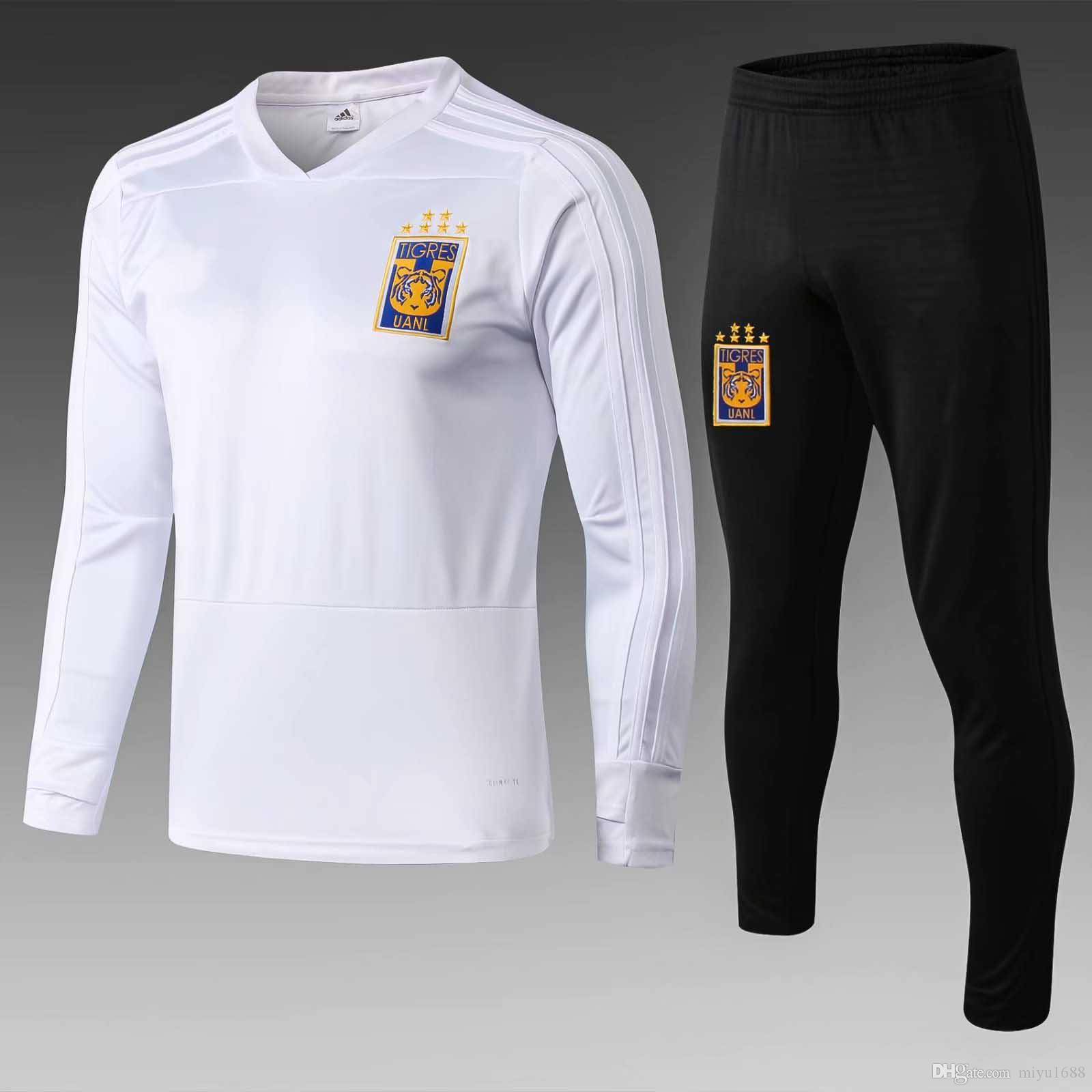 2018 2019 Club America Long Sleeve Monterrey Tigres UANL track Suit Soccer Jersey Training top chandal Football Pants sportswear Survetement