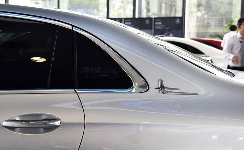 2 قطع abs الجانب شعار شارة تطول ملصقات قياسية لمرسيدس بنز e فئة c فئة اكسسوارات السيارات سيارة التصميم
