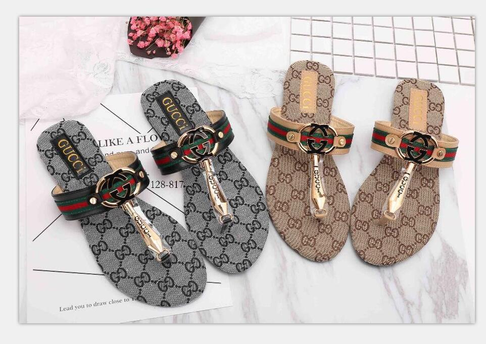 01 mujeres de diapositivas sandalias de los zapatos de diapositivas de lujo de diseño de moda de verano plano ancho resbaladizo con densamente las sandalias del deslizador de las chancletas tamaño 35-42
