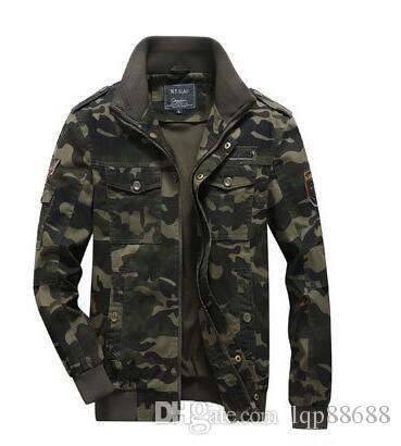 Cappotto della giacca autunno primavera nuovi uomini abbigliamento militare uniforme giacca mimetica tuta sportiva