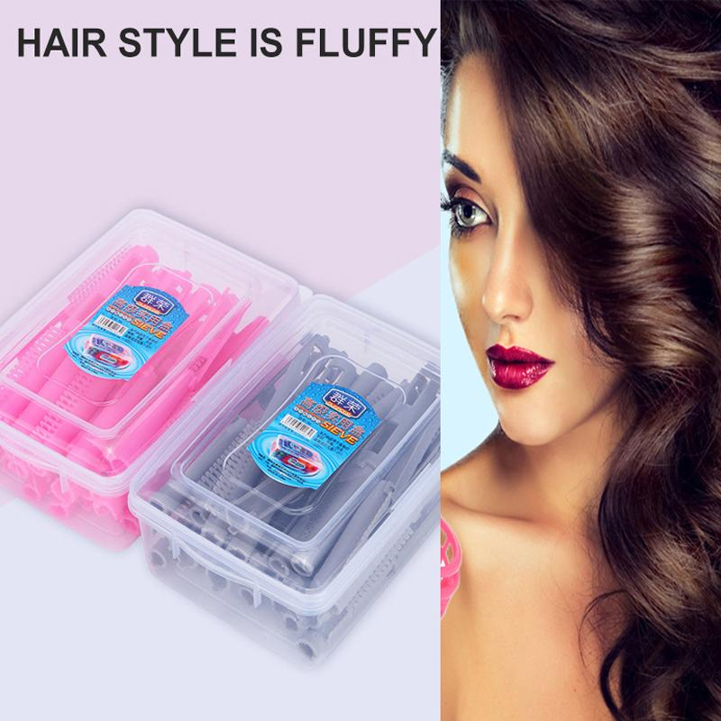 25pcs/bag Hair Clip Wave Perm Rod Bars Corn Curler DIY Curler Fluffy Clamps Rollers Fluffy Hair Roots Perm Hair Styling Tool