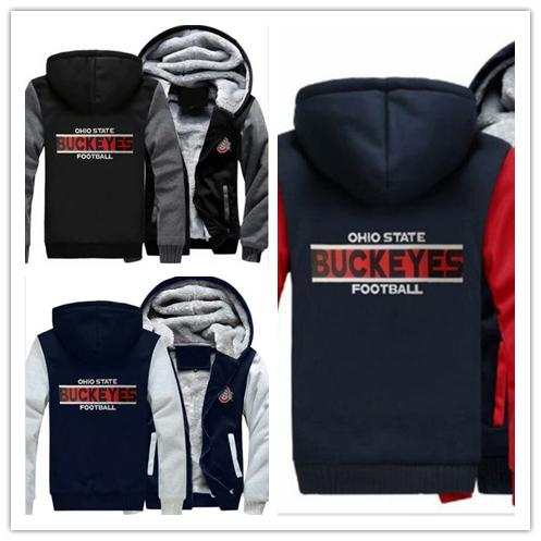 2019 Winter Hoody Ohio State Buckeyes Football Team Team Men Women Warm Hoodies Autumn Clothes Sweatshirts Zipper Jacket Fleece Hoodie Streetwear From