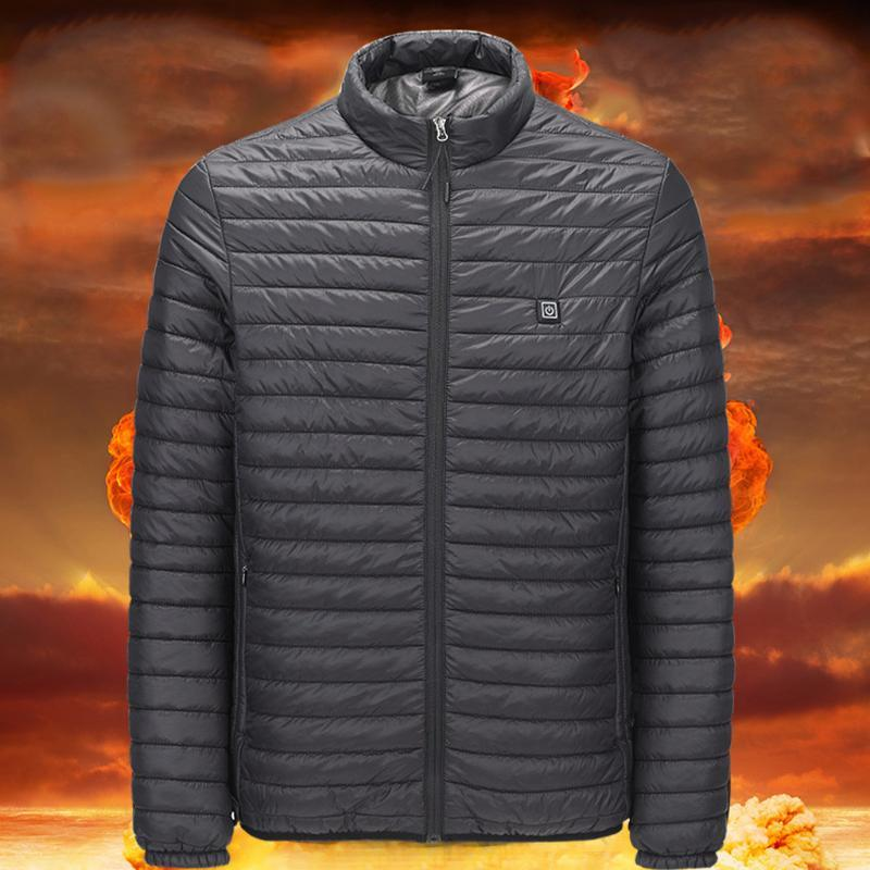 Wholesale-winter electric Heated Vest Thermal thermostat heating jacket For Skiing Hunting Warm Heating Clothes smart USB interface#G9