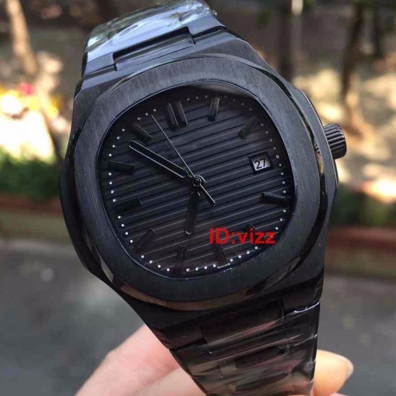 Top Luxus Herrenuhr mechanische Bewegung Top-Höhle-Entwurfs-Edelstahl-Gehäuse und Armband Hoch verstärkt Glasspiegel-Armbanduhr