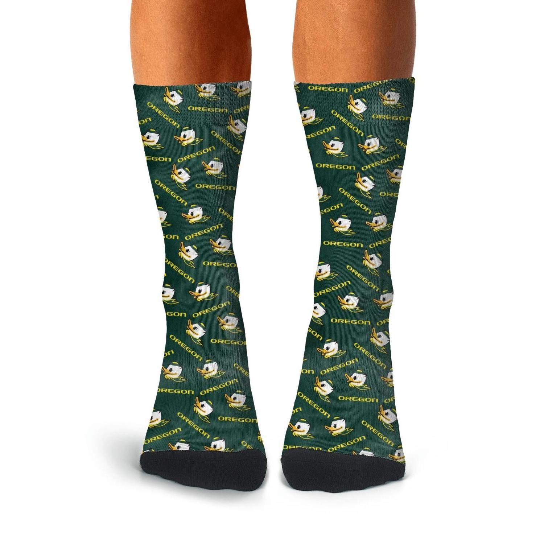 Man Oregon Ducks le football vert Boot chaussettes de coton personnalisé imprimé basket légère Cozy Football Logo Noir Lattice arc-en-Gay
