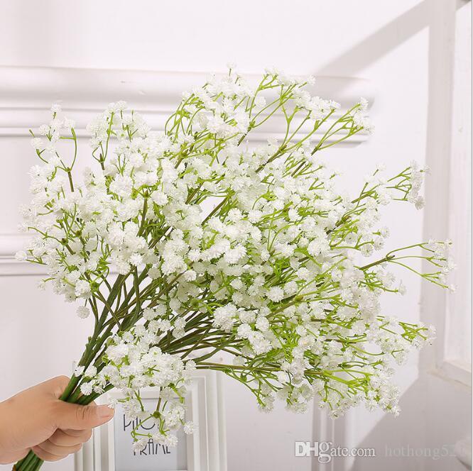 2 couleurs Nordic Fleurs Artificielles pour la décoration soie Gypsophila fleur maison table fleur De Mariage Décoration murale décor À La Maison Décorations