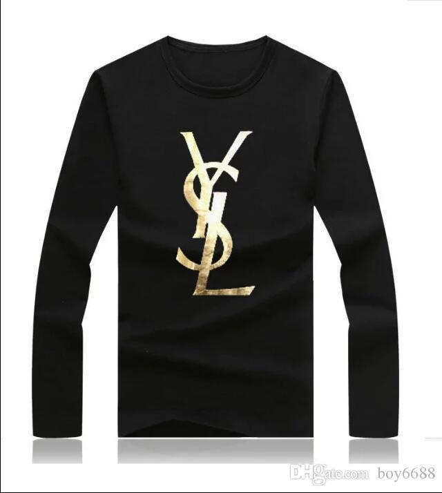 Francese Parigi Mens manica lunga t-shirt magliette timbratura calda di stampa di modo delle magliette dei vestiti delle donne top a manica corta manica lunga