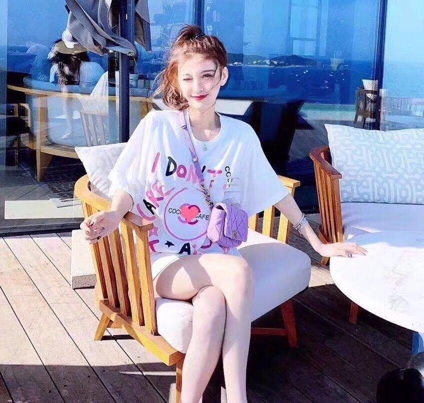 2020 mujeres de alta calidad de manga corta de la moda de primavera y verano la camiseta casual y las mujeres cómodas SH7B ropa
