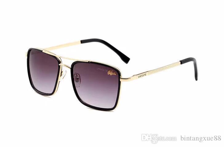2020 Lüks Desinger Kare Güneş gözlüğü Kadınlar Erkekler Moda Aksesuar Yüksek Kalite G5859 için Damga UV400 Full Frame güneş gözlüğü ile