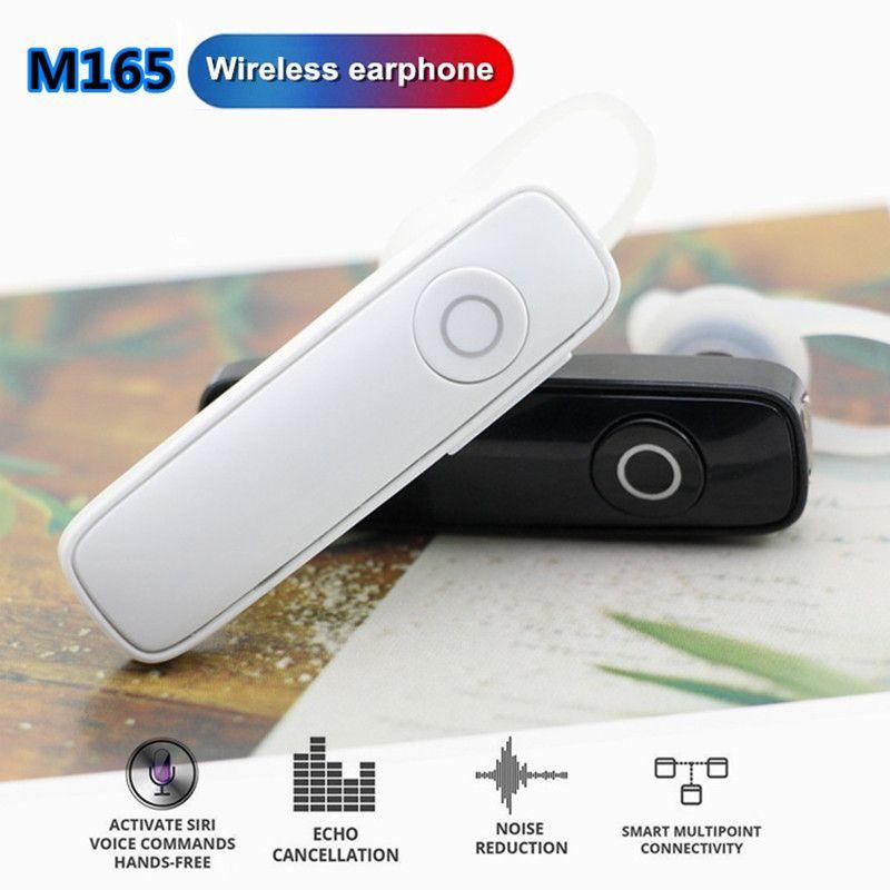 perakende pakcage tüm telefon için evrensel M165 Sıcak Kablosuz Stereo Bluetooth Kulaklık Kulaklık mini kablosuz bluetooth handfree