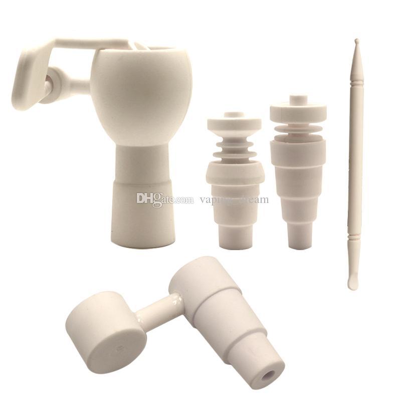 Bangers céramique Nail Carb Cap pour 10 mm 14 mm 18 mm verre d'eau Bongs Dab Rig Beaker Bong Nails de haute qualité en céramique