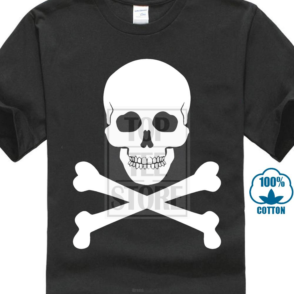 2019 Fashion Casual Streetwear Skull & Crossbones Pirate Inspired Printed T Shirt New Arrivals Casual Wholesale Discount Basic Tops