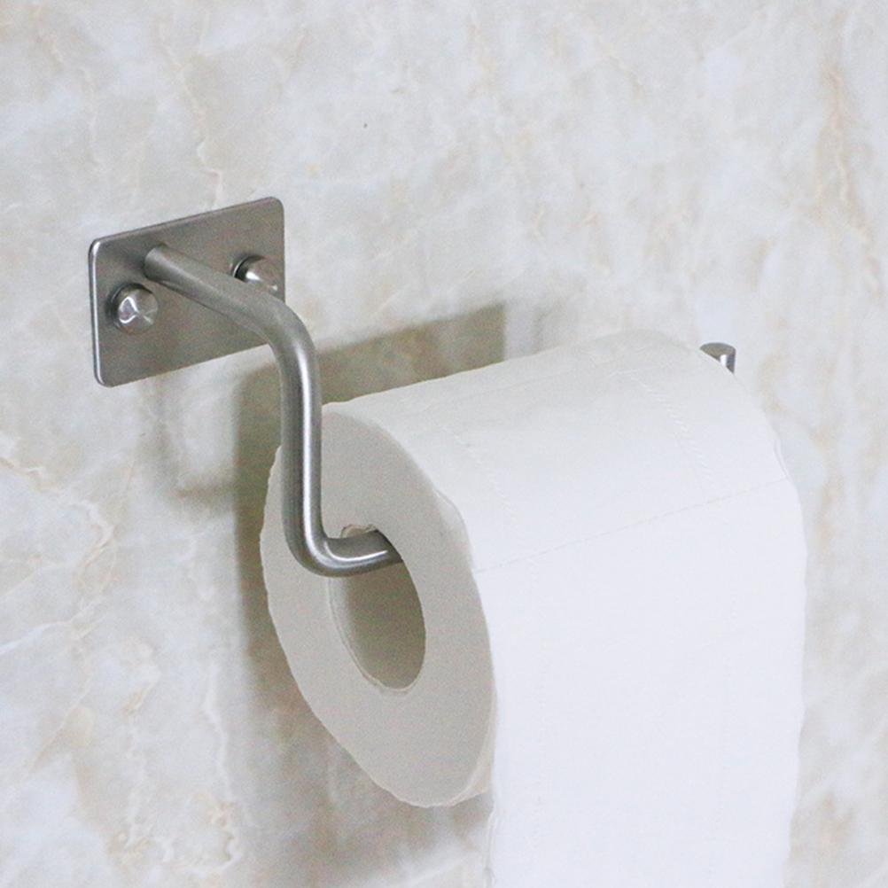 Настенный держатель ткани из нержавеющей стали серебряный бумаги для полотенец бумаги Держатель рулона ткани Организатор вешалка для полотенец Для дома