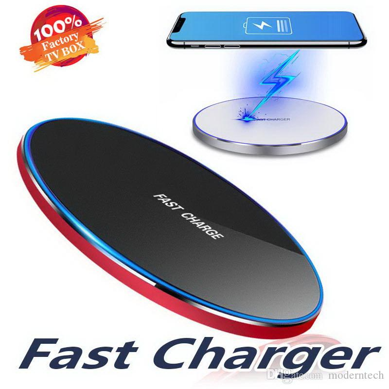 2019 Best Aluminum Alloy Wireless Charger Mobile Phone Wireless Transmitter Applicable to Qi Fast Charging Wireless Charger Pad