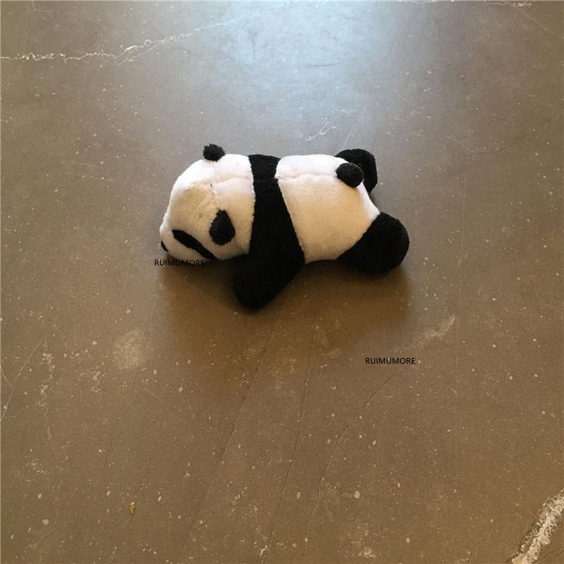 10CM Circa. Piccolo Panda Giocattoli imbottiti per il regalo dei bambini del bambino, della catena chiave della clip del panda bambola Giocattoli di peluche