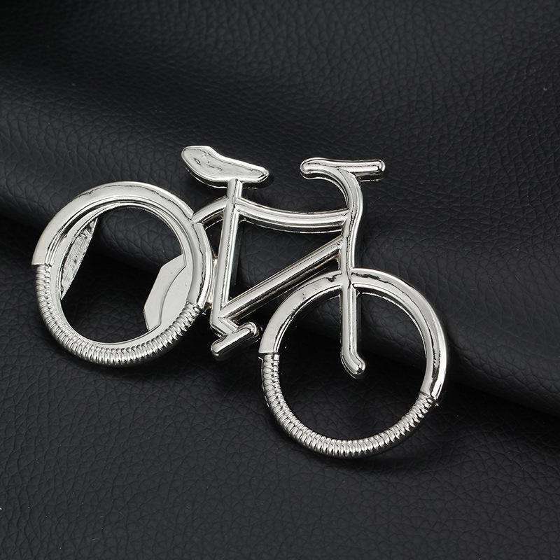Bouteille de bière en métal vélo Ouvre-porte-clés mignon pour les amoureux de vélo fête de mariage cadeau d'anniversaire vélo tout neuf porte-clés