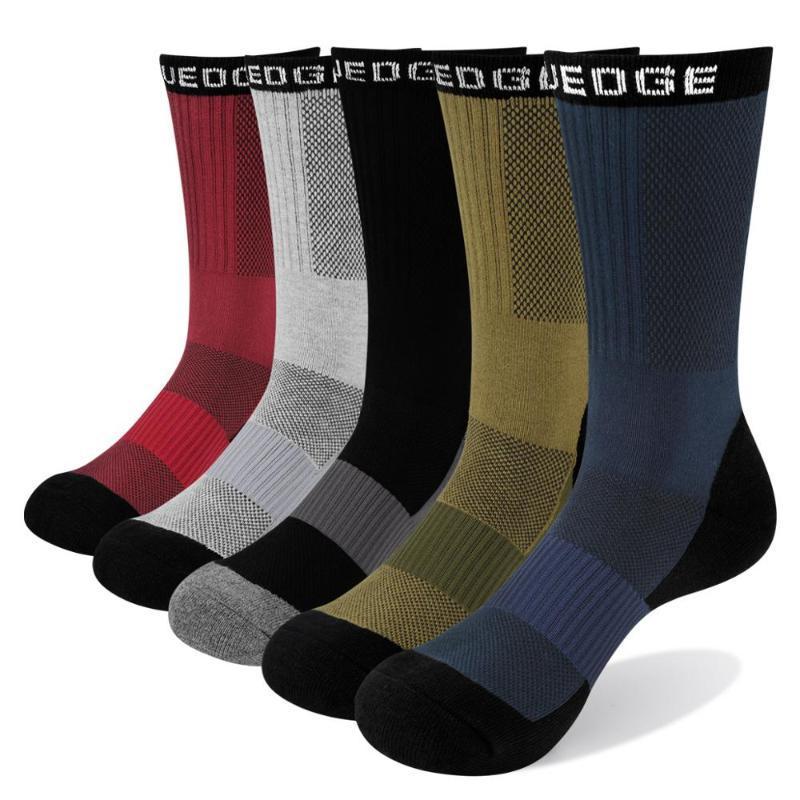 YUEDGE 5 paia di sport del cotone degli uomini dei calzini di alta qualità all'aperto corsa ciclistica calzini qualità estate e l'autunno