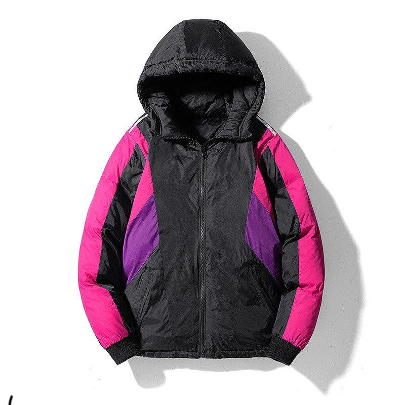Womens Jackets Coats Brand Parkas Fashion Casual Contrast Luxury Three Color Available Winter Coat Size Available From M To 2XL #10