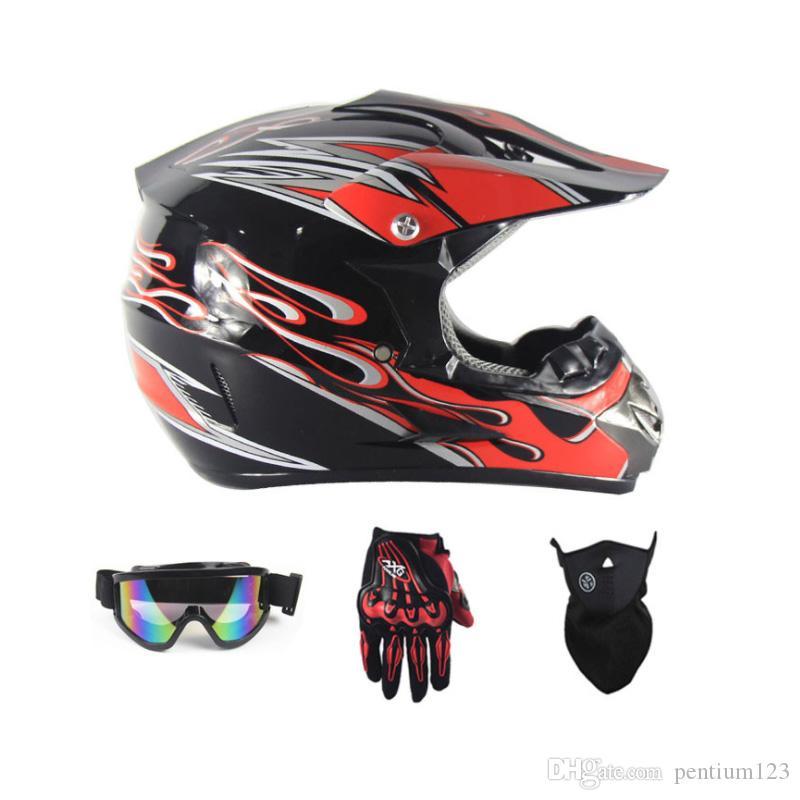 gözlük eldiven ile motosiklet kaskı aşağı için 2019 sıcak Motosiklet çapraz MTB DH yoldan motosiklet çapraz yarış kask noktası maske