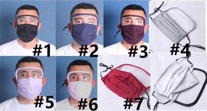 Factory Outlet Anti PM2,5 poussière Mettez le filtre Masque 2 en1 couverture Bouclier en plastique transparent visage yeux Femmes Hommes Masques de protection