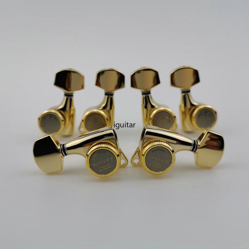 Nuovo stile Golden Guitar Locking Tuners chitarra elettrica Mecchaniche sintonizzatori blocco Chitarra spine di sintonia (con imballo) in magazzino
