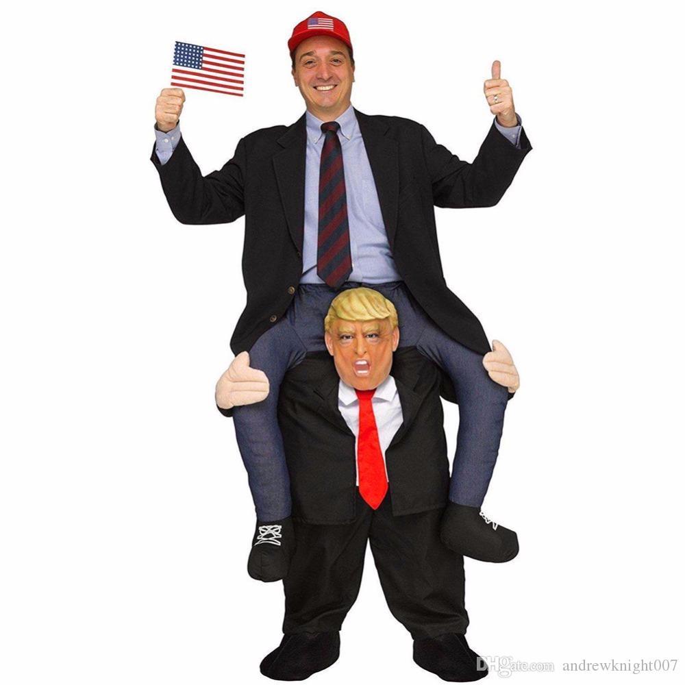 Новинка костюмы взрослых брюки одеваются ездить на Дональд Трамп плечо костюмы талисмана нести обратно весело косплей одежда DK7091CP