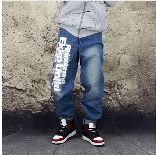 Recta Hip Hop Jeans para hombre flojo Rapper Pantalones el otoño del resorte para hombre Monopatín del diseñador de moda Jeans Plus tamaño carta
