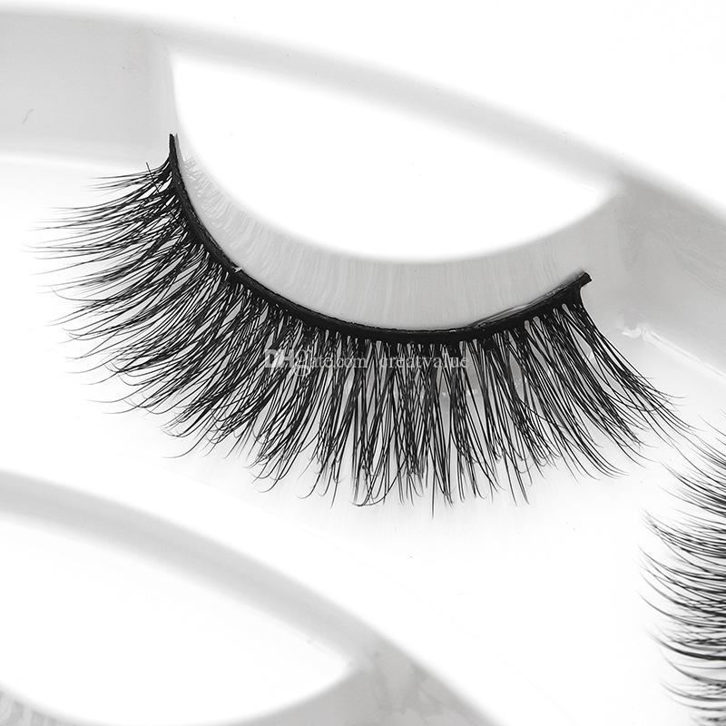 Alta Qualidade 3D cílios Falsos Pacote de Presente 10 pcs Definir estilos diferentes Macio Natural Grosso Sintético Cabelo Maquiagem Dos Olhos Navio Livre rápido transporte
