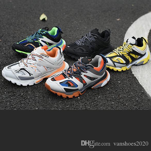 Triple S 3.0 Paris Low 3M Authentic Mens Shoes Dad maille Gomma Tess S Triple S Trainers Clunky Sneaker 40-45