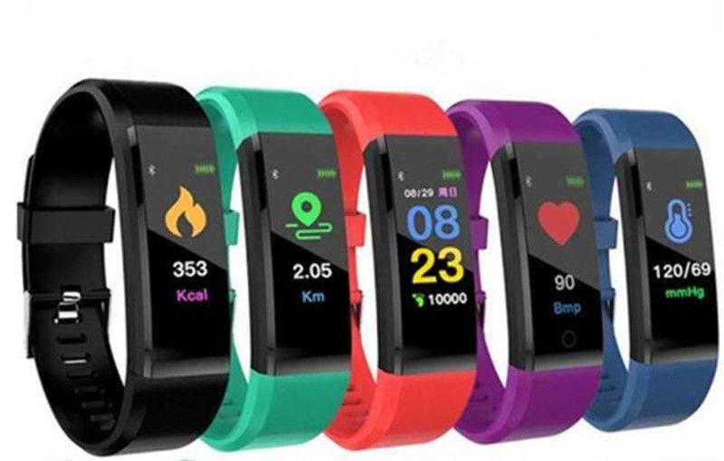 ID115 Плюс Умный Браслет Фитнес-Трекер Смарт Часы Сердечного ритма Ремешок для Часов Смарт Браслет Для Apple Android Мобильных Телефонов с Коробкой