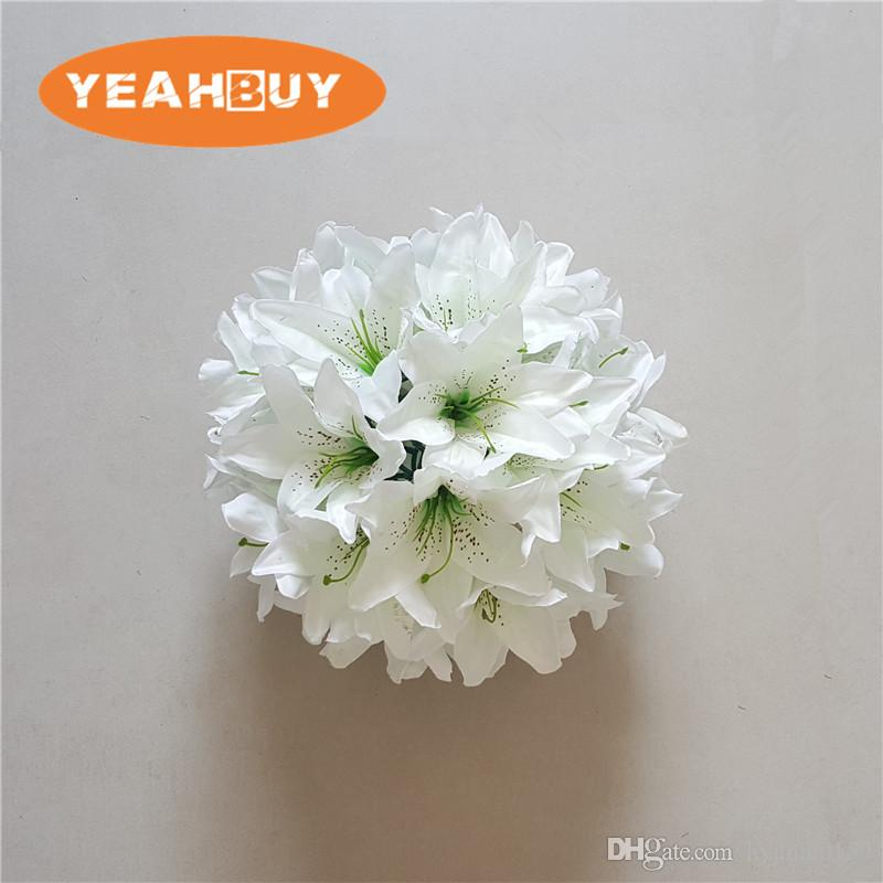 2020 28cm Lily Silk Flower Ball Artificial Diy All Kind Of Flowers