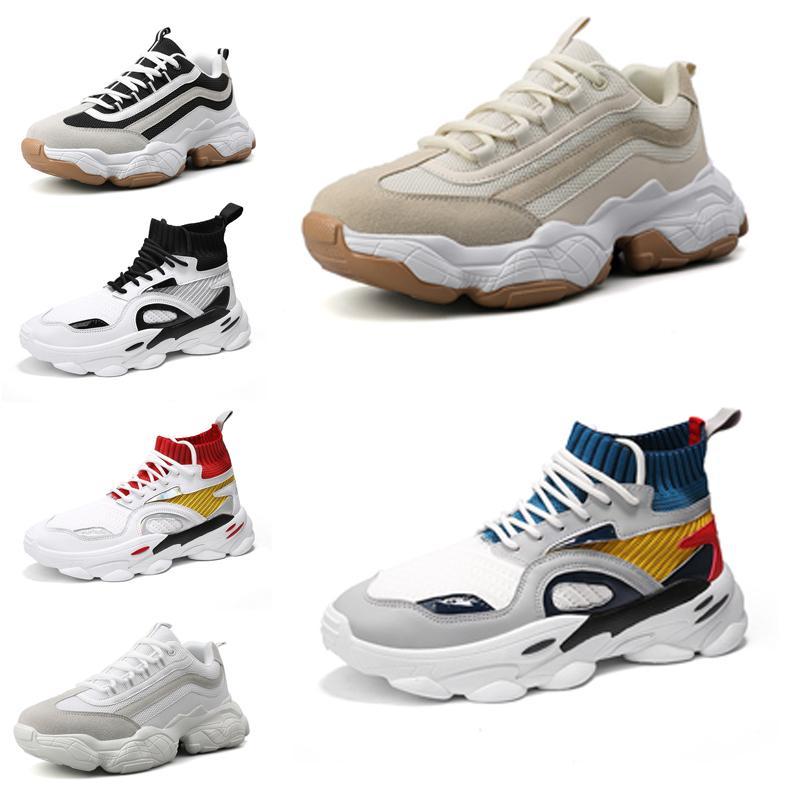 Ayakkabı Erkekler Çorap Platformu Baba Chaussures Hommes Erkek Eğitmenler Atletik Spor baba Sneakers Zapatos 39-44 Stil 5 toptan ayakkabı Koşu