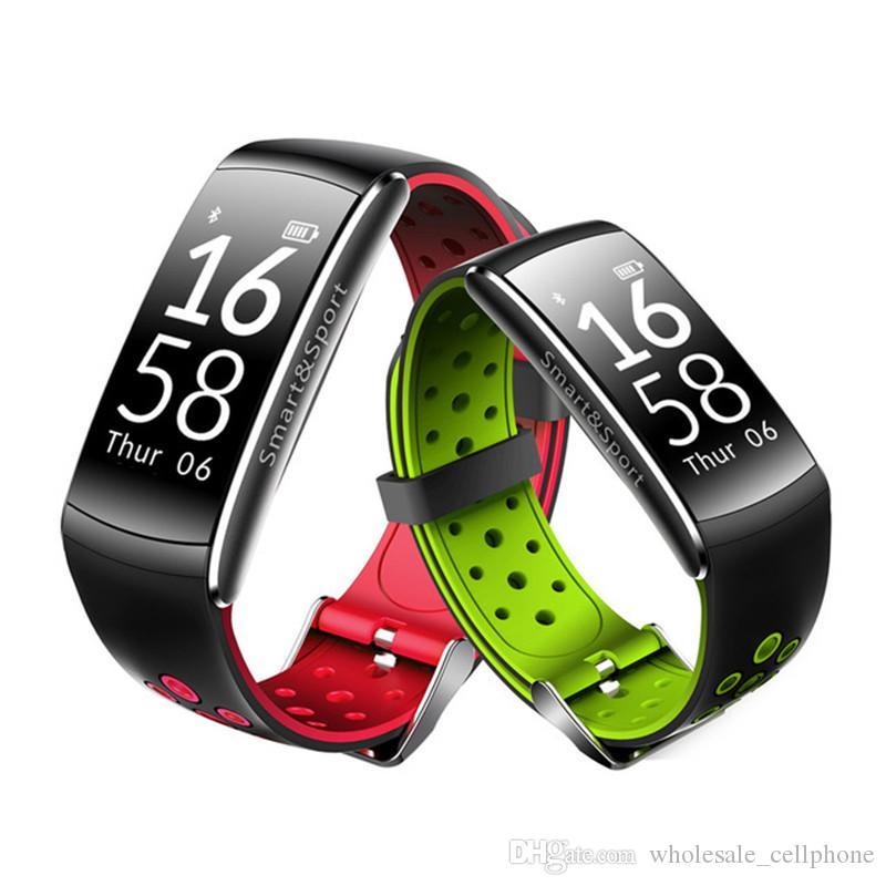Q8 Smart-Armband Blut preesure Herzfrequenzmesser Smart Watch Fitness Tracker Bluetooth Smart-Armbanduhr wasserdichte Uhr für Android iOS