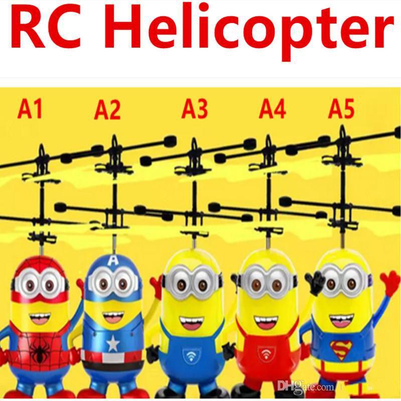 RC helicóptero volando inducción LED Noctilucent Ball Quadcopter Drone Sensor Up Precio de infrarrojos Inducción Inducción Volando juguetes 20pcs