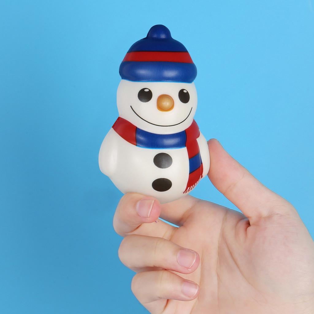 Simulación de dibujos animados decoraciones de Navidad de Santa Claus muñeco de nieve pingüino de juguete antiestrés descompresión juguetes juguetes del regalo para los niños # A
