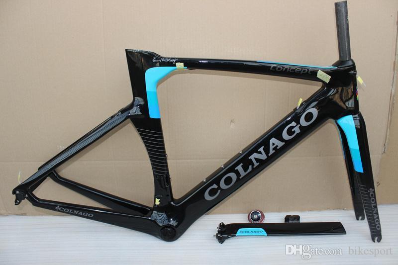 الجملة 2018 Colnago Concept Road Bicyle إطار الكربون إطار دراجة الكربون حجم XXS، XS، S، M، L، XL BB386 إطارات