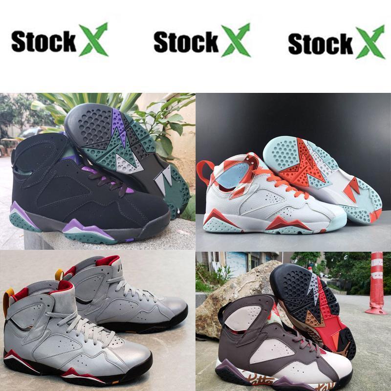 Originaux mode de basket-ball chaussures 7 7 S VII Hommes Argent Noir Blanc Rétro formateurs Sport Chaussures Sneakerf210#