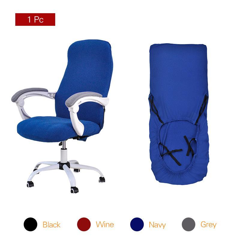 Copertura della sedia dell'ufficio dello Spandex Computer copertura della sedia Elastic Stretch Arm Chair Seat Cover 1 PC Y200104