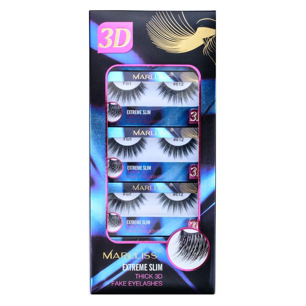 Top Quality False Eyelash 3D Mink Lash Eyelash Extension Fake Lashes Retail Package Marlliss