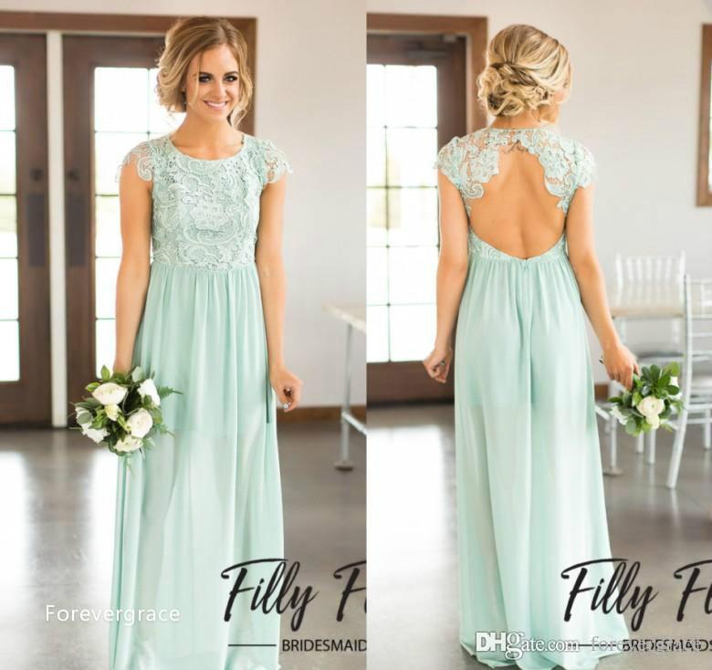 2019 дешевая Весна шифон бохо мятно-зеленый платье невесты линия богемный свадебный гость почетная горничная платье плюс размер на заказ