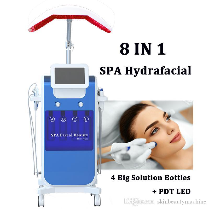 SPA Verwenden Sie HYDRA-Gesichts-Sauerstoff-Maschinen-Vakuumspray-Hydro-Peeling-Gesicht-Haut Dermabrasion-Hydrofaziale Anti-Aging-Gesichtshebe-Anhebungsgeräte
