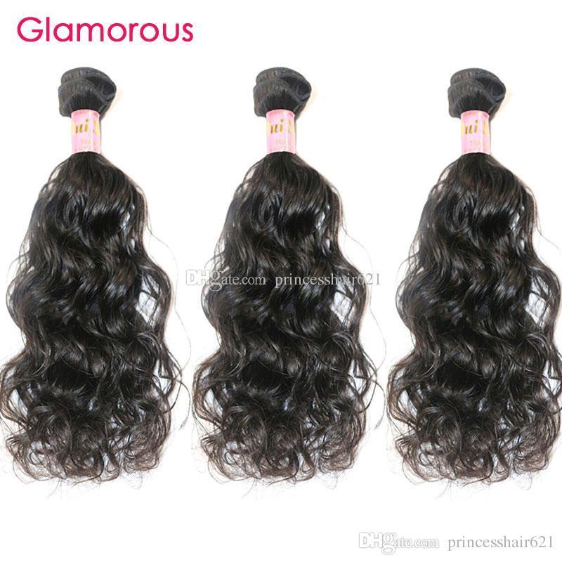Glamorous peruano cabelo humano bebê encaracolado 3 pçs / lote cor natural cutícula cheia cutícula brasileira remy cabelo 8-34 polegadas pacotes de cabelo para mulheres negras