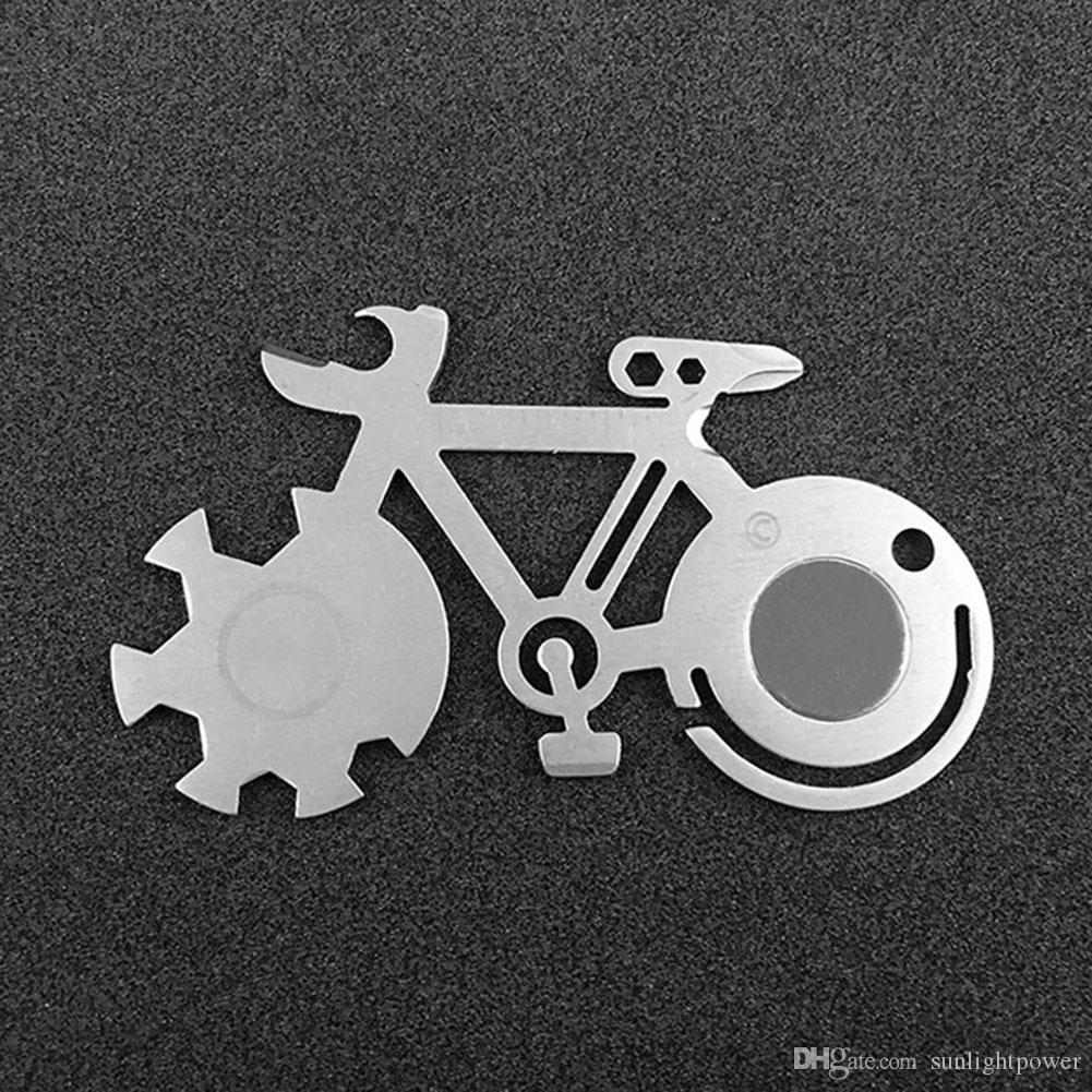 Mochila Multi-purpose Repair Bicicleta falou chave de Mountain Bike Repair Tool Cartão Camping bicicleta ferramenta de promoção engraçado bicicleta Chave Forma