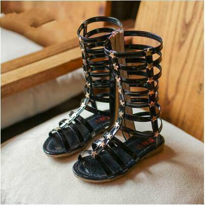 New Long Детская обувь римские сандалии Hollow Мода лето пробки Прохладный Tide обувь принцесса обувь