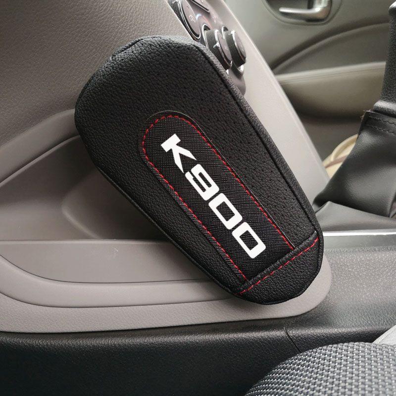 Joelho couro Pad corrimão pad Interior Car Acessórios Para Kia K900